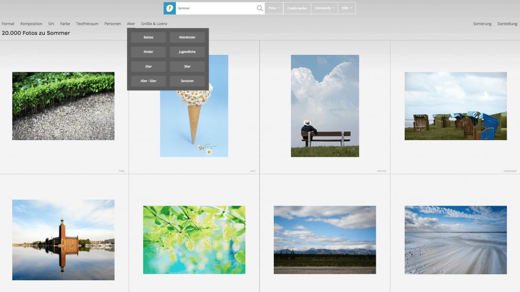Photocase zoekresultaten