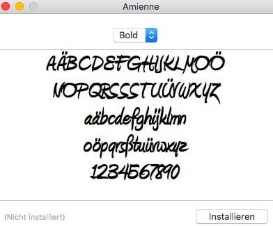Rechtenvrije lettertypen Amienne