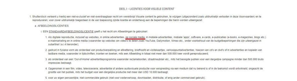 Shutterstock licentie