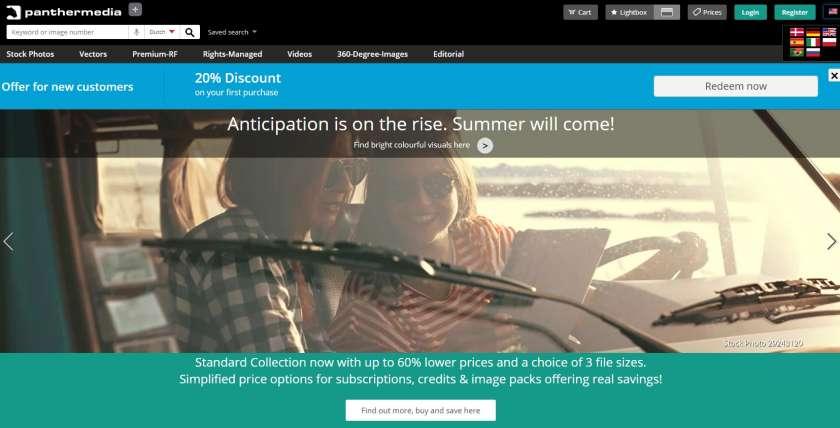 Panthermedia website screenshot