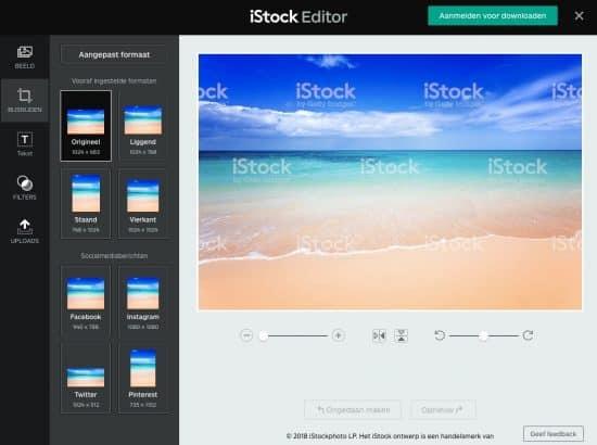 iStock beeldbewerker