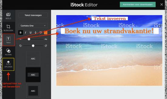Bewerk iStock afbeeldingen