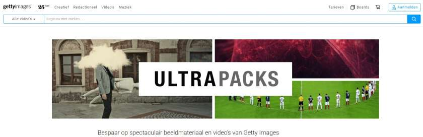 Getty Images Ultrapacks screenshot