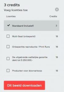 iStock prijzen licenties