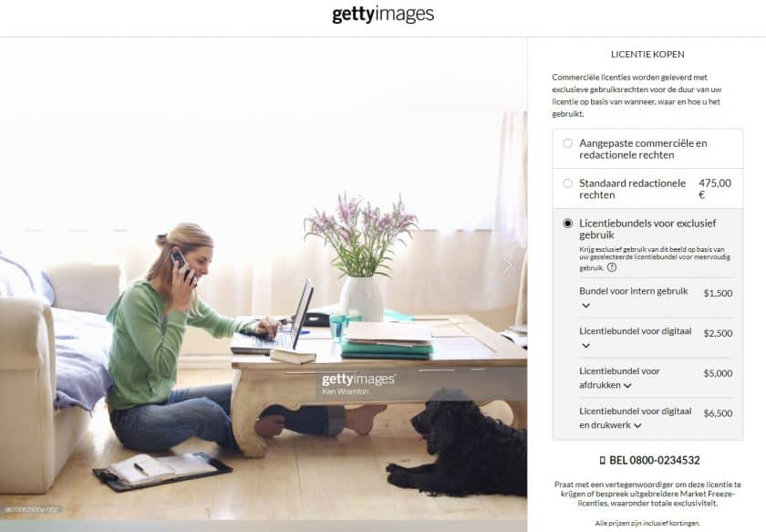 Getty Images licenties