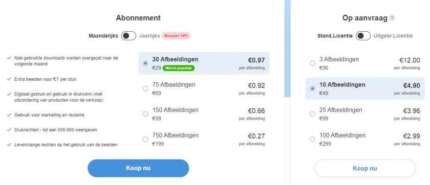Depositphotos prijzen