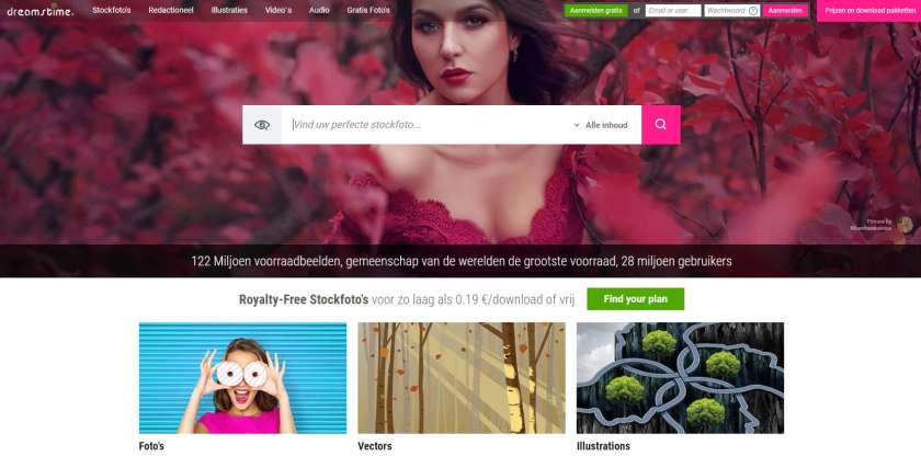 Dreamstime website