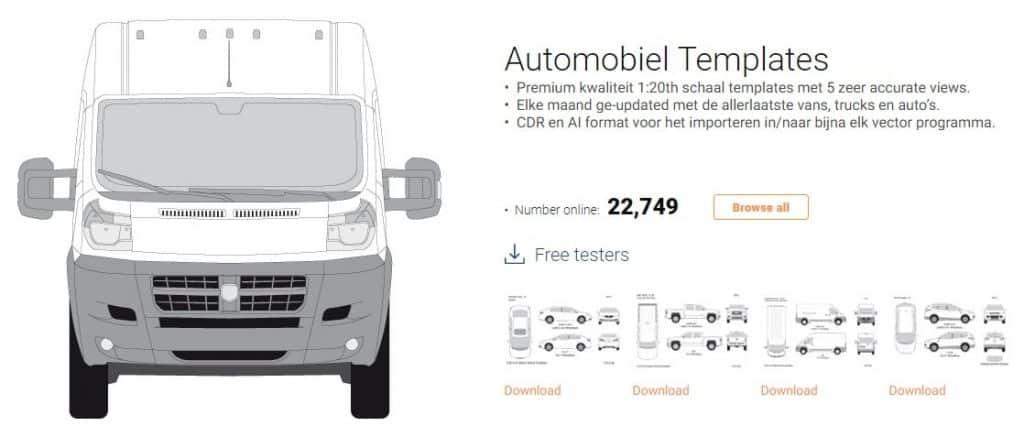 Signsilo automobile templates voorbeeld