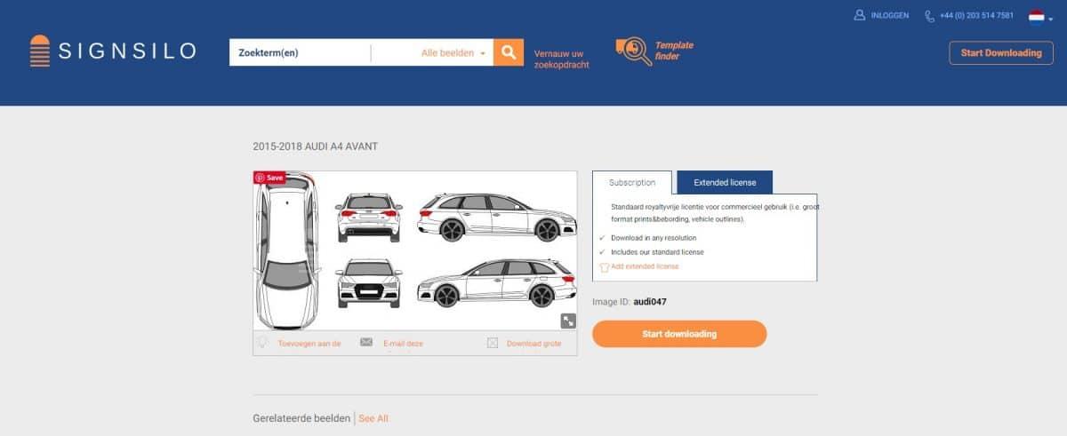 SignSilo - Voertuigsjablonen, afbeeldingen en foto's voor voertuigbelettering 3