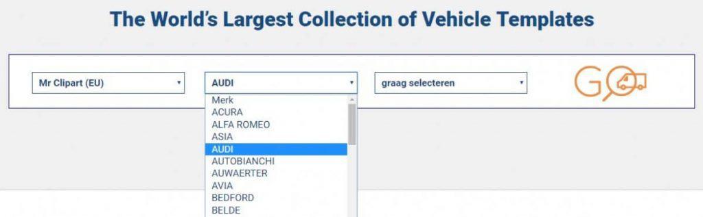 SignSilo - Voertuigsjablonen, afbeeldingen en foto's voor voertuigbelettering 6