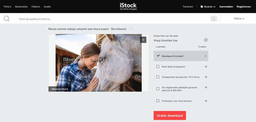 iStock gratis afbeelding