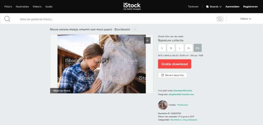 iStock gratis foto