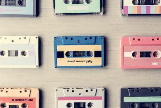 Retro muziekcassettes