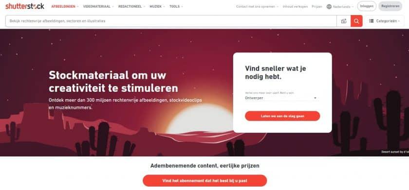 Shutterstock beeldbank