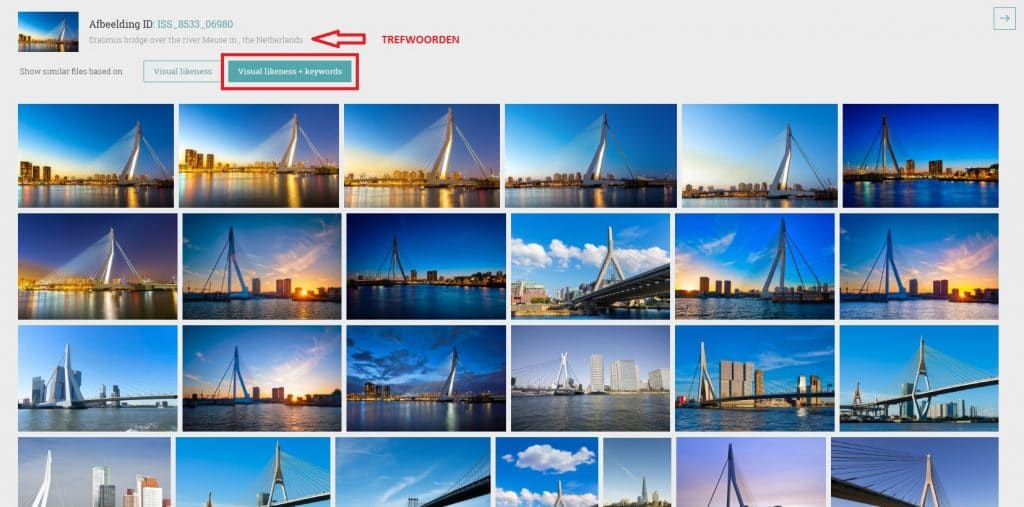 StockPhotoSecrets Shop visuele zoekfunctie trefwoorden
