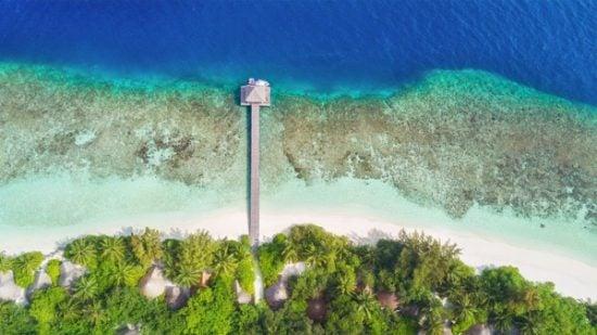 Drone foto stand kust
