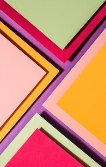 Papieren grafiek in heldere kleuren