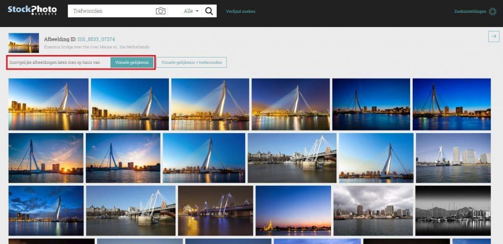 StockPhotoSecrets Shop visuele zoekfunctie soortgelijke afbeeldingen