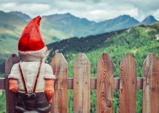 PTuinkabouter met idyllisch uitzicht
