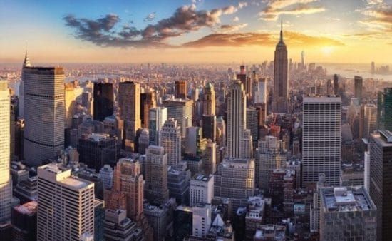 Adobe Stock New York City in vogelvlucht