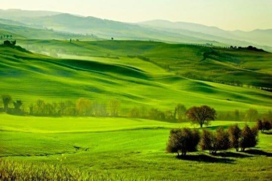 Landschapsafbeelding van Toscane, Italië