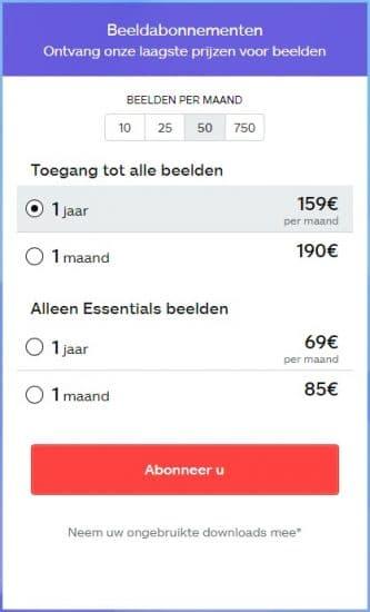 iStock prijzen