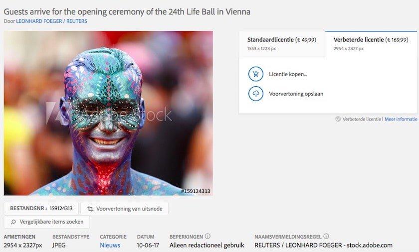 Adobe Stock redactionele afbeeldingen