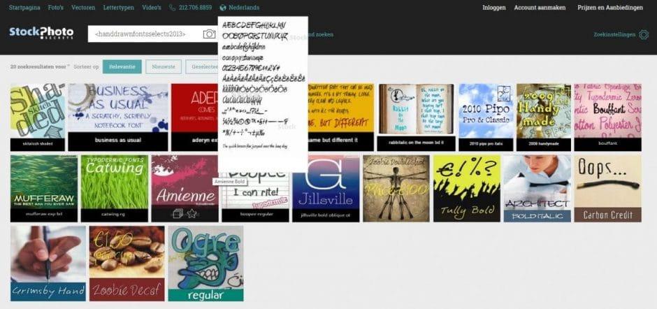 StockPhotoSecrets Shop rechtenvrije lettertypen