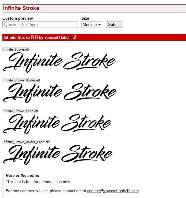 Rechtenvrije lettertypen - voorbeeld gratis lettertype
