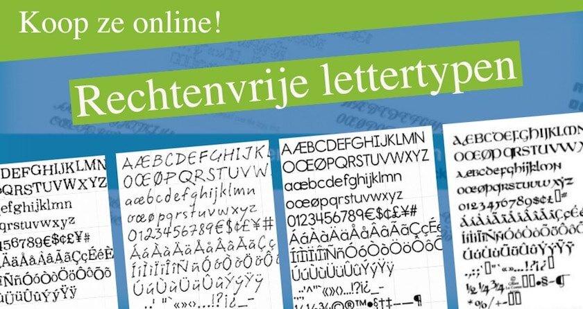 Rechtenvrije lettertypen - koop ze online! 1