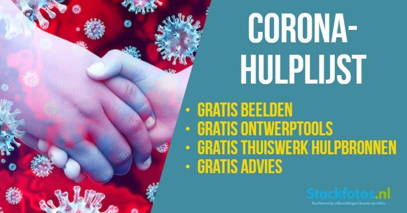Corona-Hulp: Gratis Corona-foto's & credits, couponcodes en kortingen! 1