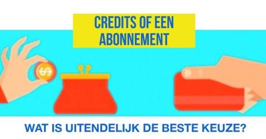 credits of een abonnement