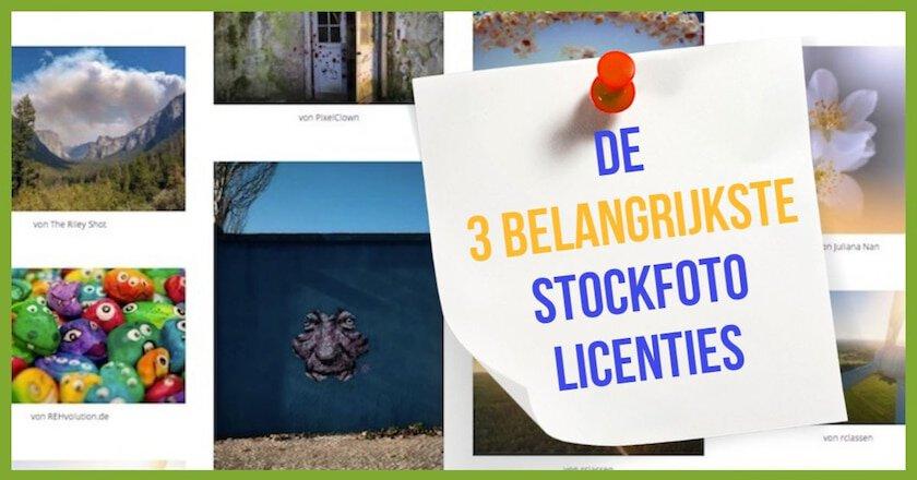 De 3 belangrijkste stockfoto licenties 1