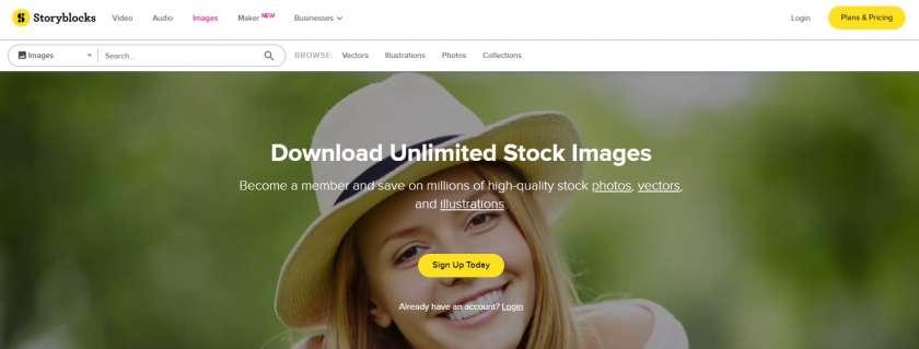 www.storyblocks.com homepage