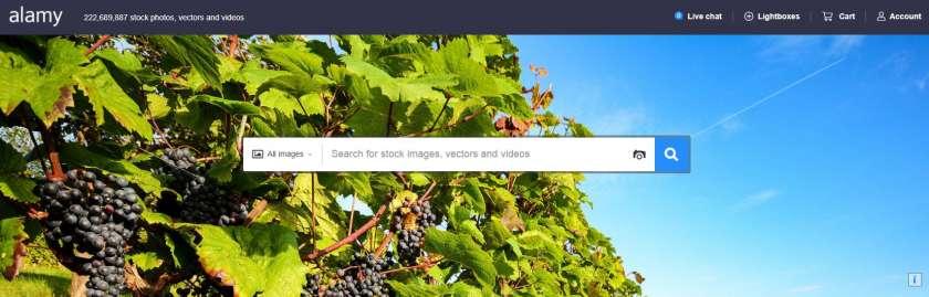 Alamy website