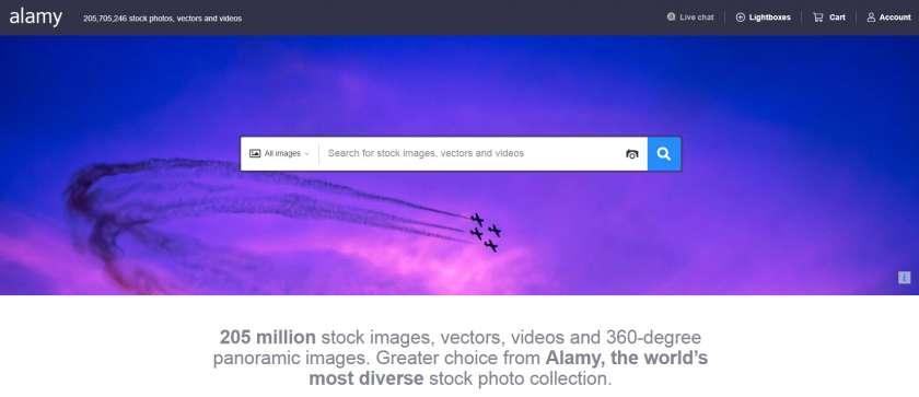 Alamy website screenshot
