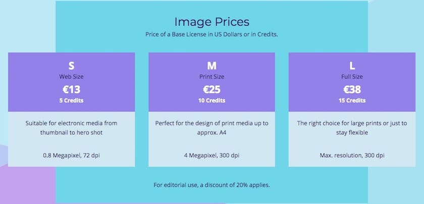 Photocase afbeeldingsprijzen