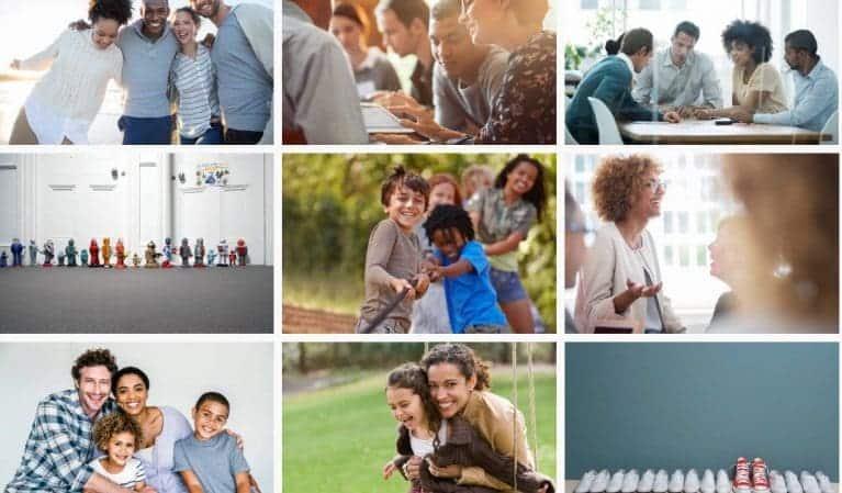 Getty Images diversiteit afbeeldingen