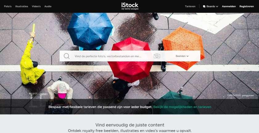 iStock screenshot website