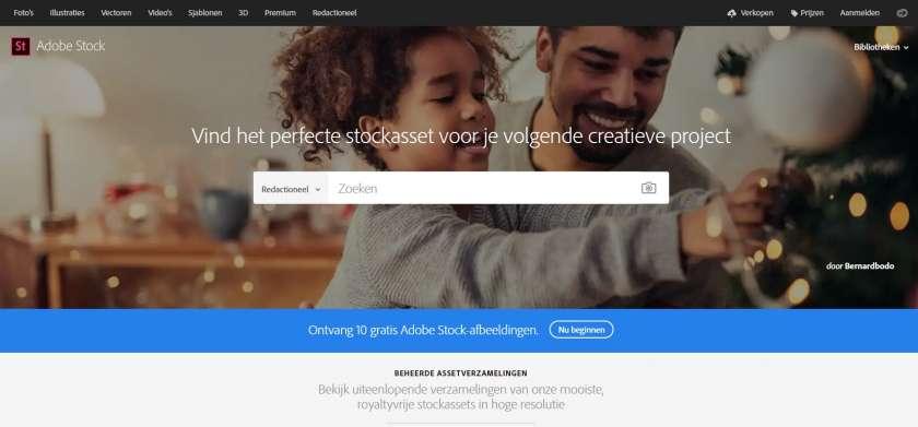Adobe Stock screenshot website