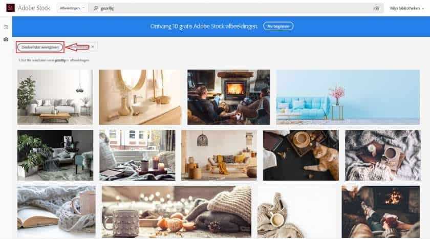 Adobe Stock afbeeldingen zoeken