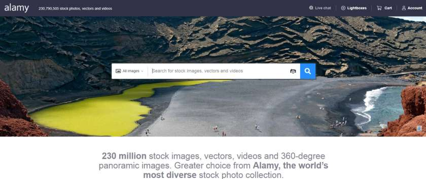 Alamy website screenshot