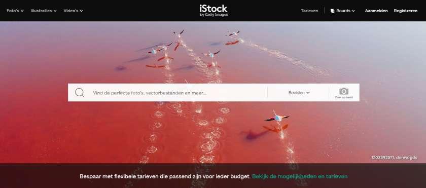 iStock website screenshot