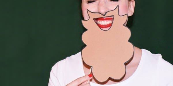 Photocase stockfoto vrolijke vrouw met baard