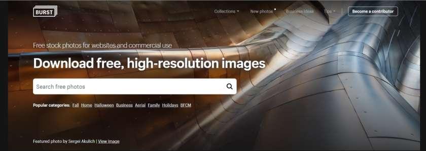 Burst screenshot website