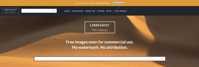 Libreshot screenshot website