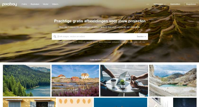 Pixabay screenshot website