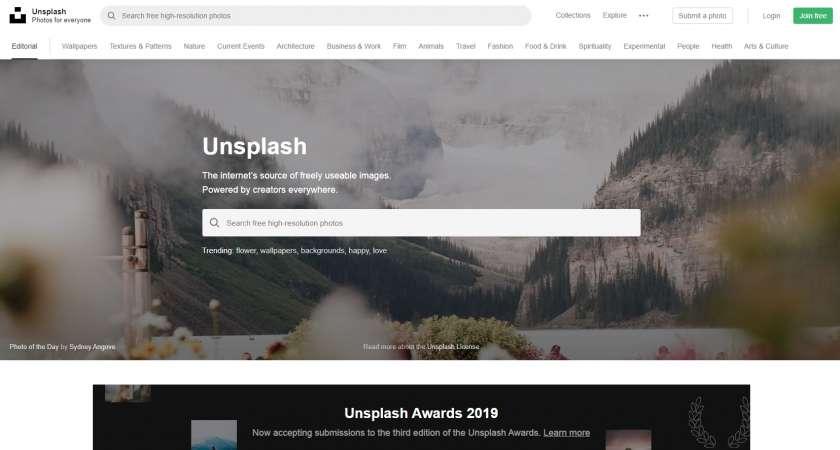 Unsplash gratis afbeeldingen