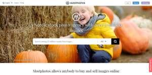 Mostphotos screenshot website