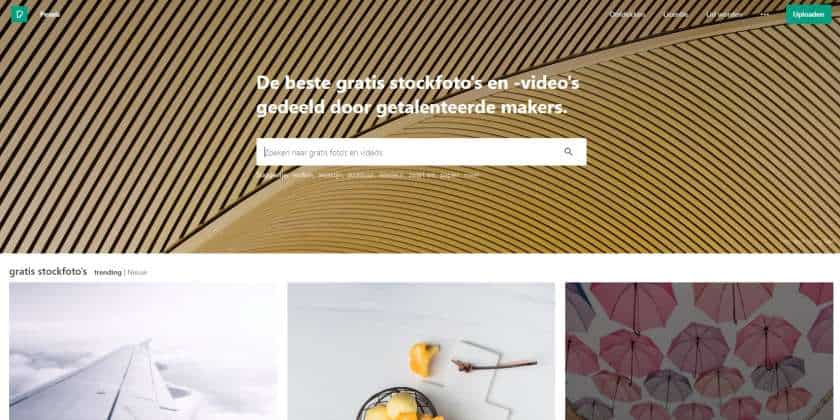 Pexels screenshot website
